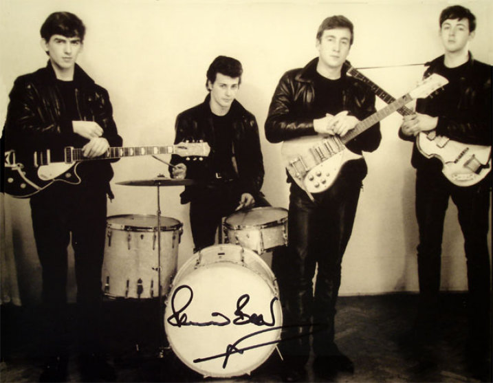 Pete Best Signed Photo