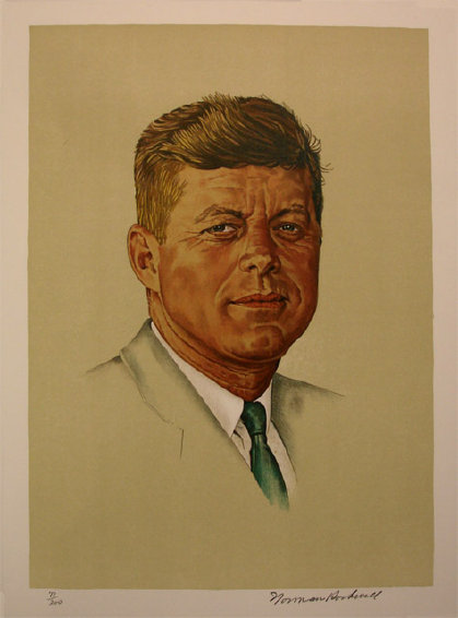 Portrait of John F. Kennedy by Norman Rockwell